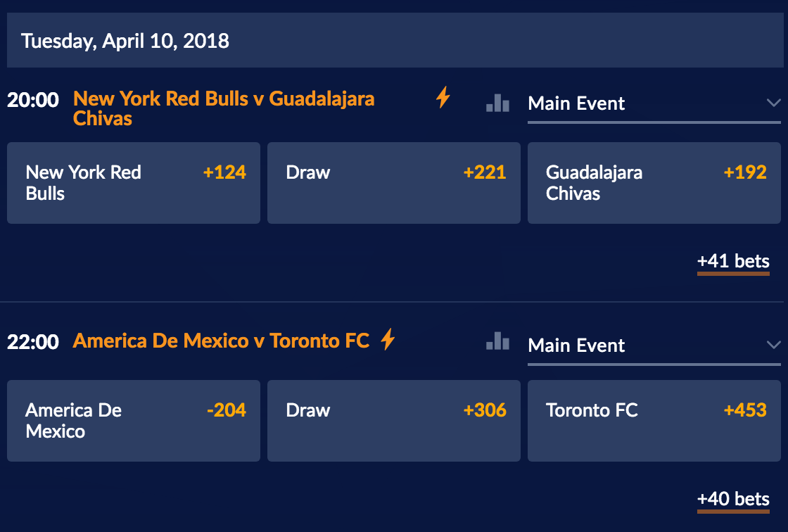 CONCACAF League semi-finals odds at Sports Interaction